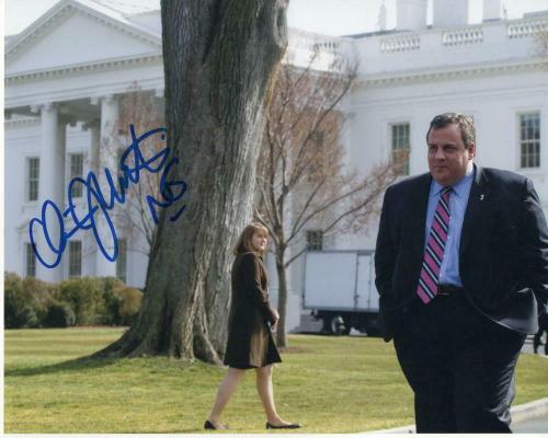 Chris Christie Signed Autograph 8x10 Photo - Nj Governor, 2020, Donald Trump B