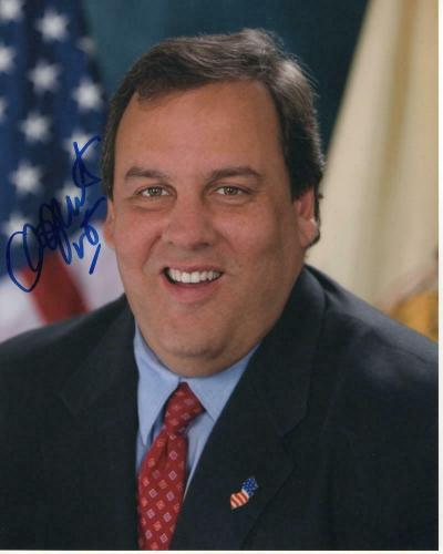 Chris Christie Signed Autograph 8x10 Photo - Nj Governor, 2020, Donald Trump E