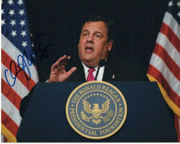 Chris Christie Signed Autograph 8x10 Photo - Nj Governor, 2020, Donald Trump G