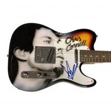 Chris Cornell Audioslave Autographed Airbrushed Guitar RACC TS UACC RD AFTAL