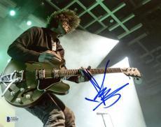 "Chris Cornell Autographed 8"" x 10"" Soundgarden Playig Guitar Photograph - BAS COA"