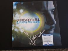 Chris Cornell Euphoria Mourning Autographed Signed LP Beckett Certified