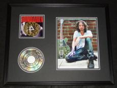 Chris Cornell Signed Framed 16x20 Soundgarden CD & Photo Display