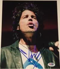 Chris Cornell Soundgarden signed Photo 8x10 in concert with Psa Dna coa
