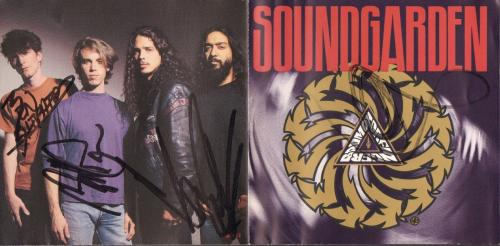 CHRIS CORNELL, Thayil, Cameron & Shepard Signed SOUNDGARDEN CD JSA & PSA/DNA