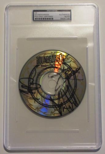 CHRIS CORNELL, Thayil, Cameron & Shepard Signed SOUNDGARDEN CD PSA/DNA & JSA