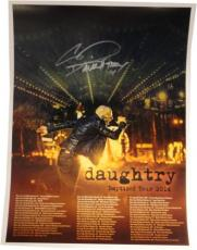 Chris Daughtry Hand Signed Autographed 18x24 Concert Poster / Photo COA