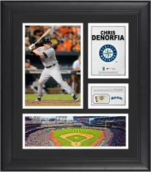 Chris Denorfia Seattle Mariners Framed 15'' x 17'' Collage with Piece of Game-Used Ball