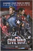 """Chris Evans Captain America Autographed 12"""" x 18"""" Civil War Photograph"""