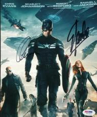Chris Evans Captain America Stan Lee Signed Autographed 8x10 Photo PSA/DNA