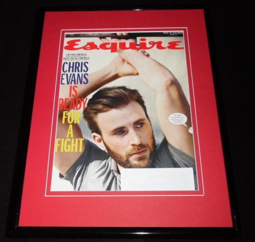 Chris Evans Framed 11x14 ORIGINAL 2017 Esquire Magazine Cover Captain America