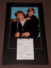 Chris Farley Signed Framed 1997 Saturday Night Live Contract & Photo Set JSA