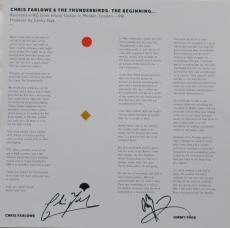 Chris Farlowe/Jimmy Page Signed Thunderbirds Auto Album Insert PSA/DNA #AC08575
