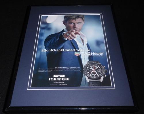 Chris Hemsworth 2016 Tag Heuer Torneau Framed 11x14 ORIGINAL Advertisement