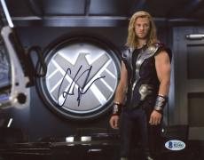"Chris Hemsworth Autographed 8"" x 10"" Thor: Standing in Department Photograph - Beckett COA"