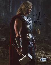 "Chris Hemsworth Autographed 8"" x 10"" Thor: Standing Looking Down Photograph - Beckett COA"