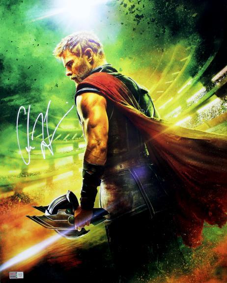 Chris Hemsworth Autographed Marvel Avengers Thor 16x20 Photo
