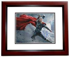 Chris Hemsworth Signed - Autographed THOR AVENGERS 11x14 Photo MAHOGANY CUSTOM FRAME
