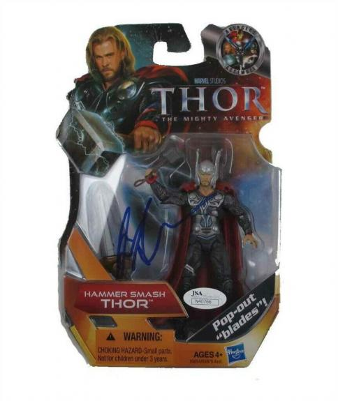 Chris Hemsworth Avengers Endgame Autographed Signed Action Figure JSA COA