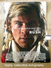 Chris Hemsworth & Ron Howard Signed 27x40 Original Ds Rush Movie Poster Psa Coa