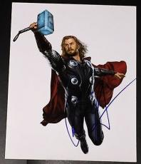 "Chris Hemsworth Signed Autograph ""avengers 2 Age Of Ultron"" Thor Hammer Photo"