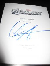 "Chris Hemsworth Signed Autograph ""avengers' Full Movie Script In Person Marvel"
