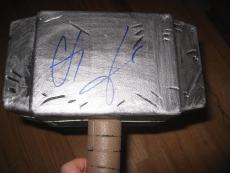 Chris Hemsworth Signed Autograph Thor Hammer Replica In Person Avengers Coa Ny E