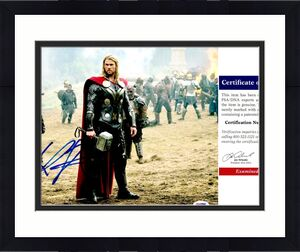 Chris Hemsworth Signed - Autographed THOR 11x14 inch Photo - PSA/DNA Certificate of Authenticity (COA)