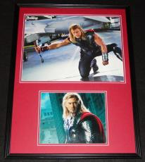 Chris Hemsworth Signed Framed 18x24 Photo Display JSA Thor Avengers B