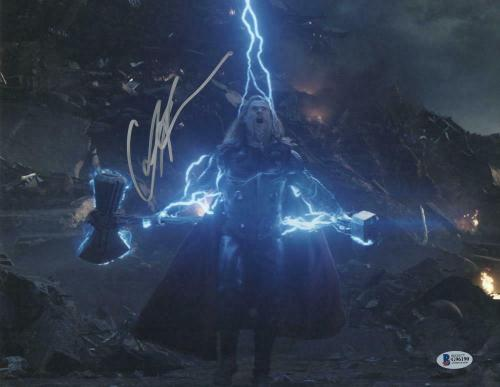 Chris Hemsworth Signed Thor Avengers Infinity War Endgame Autograph Beckett B