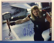Chris Hemsworth & Stan Lee Signed Marvel Thor 11x14 Photo PSA Cert#AA28258