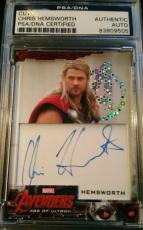 Chris Hemsworth Thor Avengers Age of Ultron Foil 2015 UD Signed AUTO PSA/DNA