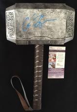 Chris Hemsworth Thor Signed Mjolnir Hammer Jsa Authenticated Ragnarok Avengers