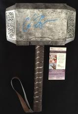 Chris Hemsworth Thor Signed Mjolnir Hammer Jsa Authenticated Ragnarok Dark World