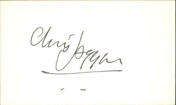 "CHRIS JAGGER LIFEFORCE Signed 3""x5"" Index Card"