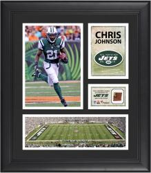 Chris Johnson New York Jets Framed 15'' x 17'' Collage with Game-Used Football