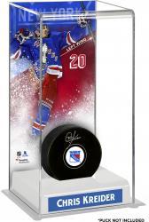 Chris Kreider New York Rangers Deluxe Tall Hockey Puck Case