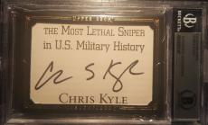 Chris Kyle American Sniper Signed UD MASTERPIECES BECKETT AUTHENTIC AUTO Patch
