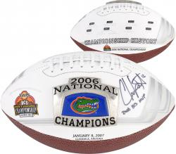 Chris Leak Florida Gators Autographed 2006 National Champ Logo Pro Football with 2006 BCS MVP Inscription