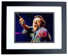 Chris Martin Signed - Autographed COLDPLAY Concert 11x14 Photo BLACK CUSTOM FRAME