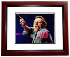 Chris Martin Signed - Autographed COLDPLAY Concert 11x14 inch Photo MAHOGANY CUSTOM FRAME - Guaranteed to pass PSA or JSA
