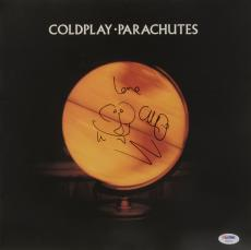 Chris Martin Autographed Parachutes Album Cover - PSA/DNA