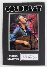 "Chris Martin Coldplay ""Love"" Signed & Matted 2x5 Cut Signature w/ Sketch BAS"