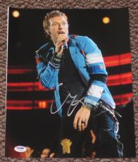Chris Martin Autographed Photo - Coldplay 11x14 Viva La Vida Grammy Coa