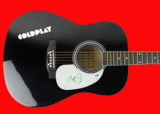 Chris Martin Coldplay Signed Acoustic Guitar Autographed PSA/DNA #AB81022