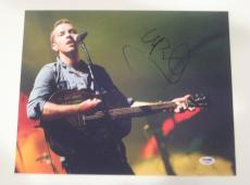 CHRIS MARTIN (Coldplay) Signed Concert 11x14 PHOTO with PSA COA