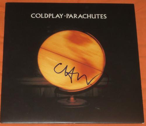 Chris Martin Coldplay Signed Parachutes Album Vinyl Lp New Exact Video Proof Coa