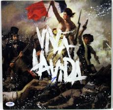 Chris Martin Coldplay Viva La Vida Signed Album Cover W/ Vinyl PSA/DNA #X31614