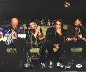 CHRIS MARTIN, JONNY, GUY + WILL COLDPLAY BAND SIGNED X+Y 11x14 PHOTO PSA/DNA COA
