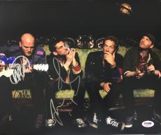 CHRIS MARTIN, JONNY, GUY + WILL COLDPLAY BAND SIGNED X+Y 11x14 PHOTO PSA/DNA COA